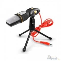 Microfone Condensador Youtuber Com Tripé Q-888 Omnidirecional